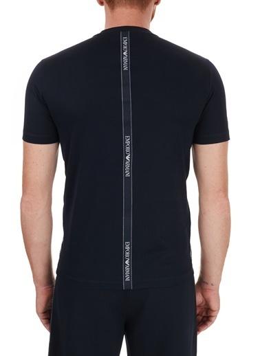 Emporio Armani  Logo Bantlı Bisiklet Yaka % 100 Pamuk T Shirt Erkek T Shırt S 6H1Tg4 1Jtuz 0920 Lacivert